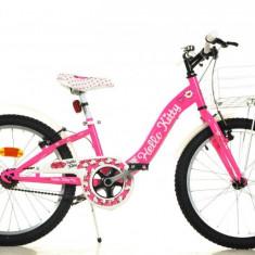 Bicicleta DINO BIKES - Hello Kitty 204R HK - Bicicleta copii