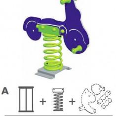 Balansoar pe arcuri Scooter Varianta - Ingropat