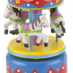 Cutie muzicala cu carusel multicolor