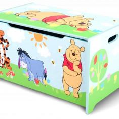 Ladita din lemn pentru depozitare jucarii Disney Winnie the Pooh - Sistem depozitare jucarii, Multicolor