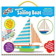 Kit barca din lemn cu vele - Jocuri arta si creatie Galt