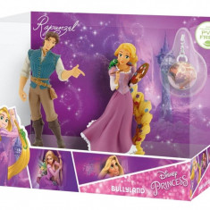 Figurine - Set Rapunzel si Flynn Rider cu medalion - Figurina Animale Bullyland