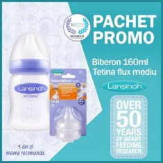 Pachet Promo Biberon 160 ml + Tetine Flux Mediu