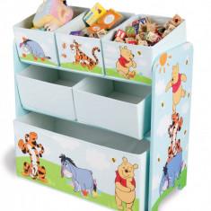 Organizator jucarii cu cadru din lemn Disney Winnie the Pooh - Sistem depozitare jucarii, Multicolor
