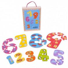 Puzzle Bigjigs-ul cifrelor - 1-9