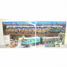 Trenulet electric Christmas cu lumina, pod si tunel, Seturi complete