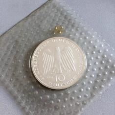MONEDA ARGINT 10 DM 1993 GERMANIA - NECIRCULATA, Europa