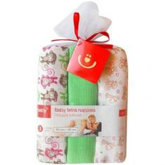 Scutece textile pentru bebelusi 3 buc - Bobobaby - Verde - Scutece unica folosinta copii