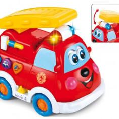 Jucarie interactiva Camionul Fire Rescue - Masinuta Baby Mix, Plastic