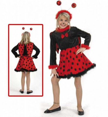 Costum pentru serbare Buburuza cu antene 116 cm foto