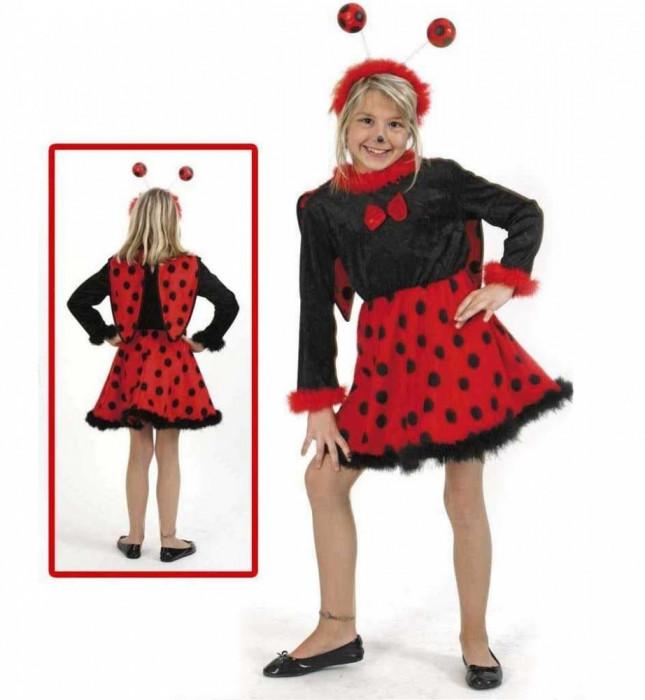 Costum pentru serbare Buburuza cu antene 116 cm