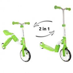 Trotineta transformabila 2 in 1 Motion - Kidz Motion - Verde - Trotineta copii