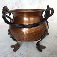 Caldarusa decorativa din cupru - Arta din Metal