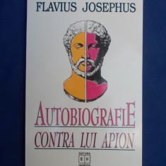 FLAVIUS JOSEPHUS - AUTOBIOGRAFIE.CONTRA LUI APION - 2002