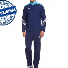 Trening barbat Adidas Sereno - trening original - treninguri pantaloni conici, S, Indigo, Poliester