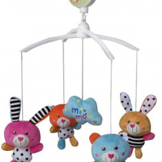 Carusel muzical Zoo Friends - Carusel patut Baby Mix, Multicolor