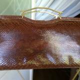 POSETA VINTAGE SUPERBA PIELE SARPE - Geanta vintage