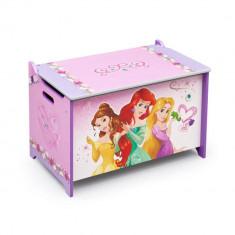 Ladita din lemn pentru depozitare jucarii Disney Princess - Sistem depozitare jucarii, Multicolor