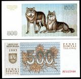 !!!  LITUANIA  -   500  TALONU  1993  - P 46  - UNC