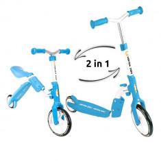 Trotineta transformabila 2 in 1 Motion - Kidz Motion - Albastru - Trotineta copii