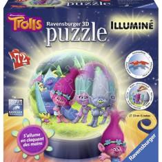 Puzzle Ravensburger 3D LUMINOS TROLLS, 72 PIESE