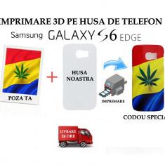 HUSA PERSONALIZATA SAMSUNG GALAXY S6 EDGE CU POZA TA - MODEL MARIJUANA - Husa Telefon, Alb, Plastic, Carcasa