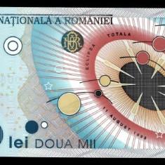 Bancnota 2000 lei 1999 (eclipsa) UNC - Bancnota romaneasca