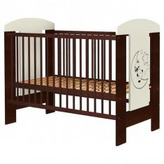 Patut copii din lemn Hubners Carolin Ursulet 120x60 cm Venghe - Patut pliant bebelusi