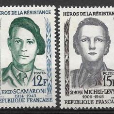 Franta 1958 - Timbre straine, Nestampilat