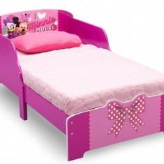 Pat cu cadru din lemn Disney Minnie Bowtique - Pat tematic pentru copii, Multicolor