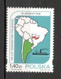 Polonia.1997 100 ani asezarile poloneze din Argentina  SP.622, Nestampilat