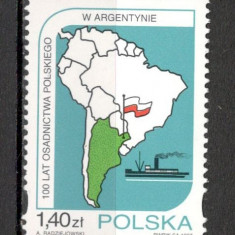 Polonia.1997 100 ani asezarile poloneze din Argentina SP.622 - Timbre straine, Nestampilat