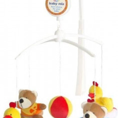 Carusel muzical Bears and Ducks - Carusel patut Baby Mix, Multicolor