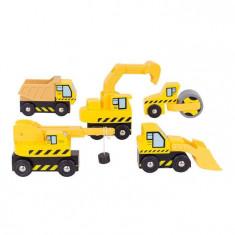 Set masinute - Santierul de constructii - Masinuta Bigjigs