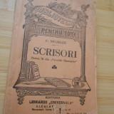 C. NEGRUZZI--SCRISORI - BIBLIOTECA PENTRU TOTI - Carte veche
