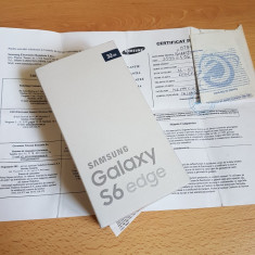 Samsung Galaxy S6 Edge + Samsung Gear VR + Samsung Wireless Charger - Telefon Samsung, Negru, 32GB, Neblocat