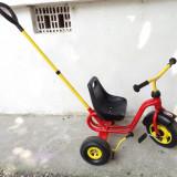 Tricicleta copii Puky cu maner, Unisex, Rosu