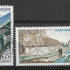 Franta 1965 - Timbre straine, Stampilat