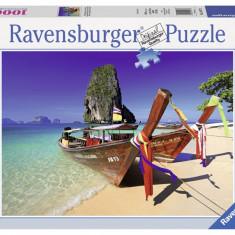 Puzzle Ravensburger BARCUTA PE PLAJA, 1000 PIESE