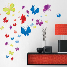 Autocolant de perete – Curcubeu de fluturași