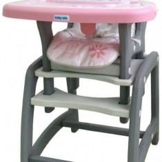 Scaun de masa 2 in 1 Hello Pink Dog Baby Mix