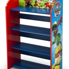 Raft carti si jucarii cu cadru din lemn Paw Patrol - Set mobila copii