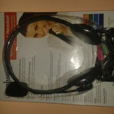 Căști Stereo Pc cu Microfon Microlab, Casti Over Ear, Cu fir, Mufa 3, 5mm
