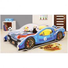 Patut in forma de masina MiniMax - Plastiko - Albastru - Set mobila copii