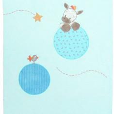 Paturica pentru copii Zebra Arthur - Lenjerie pat copii Nattou, Albastru