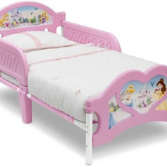 Pat cu cadru metalic Disney Princess - Pat tematic pentru copii, Roz