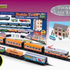 Trenulet electric calatori si marfa Doble Tren - Pequetren, Seturi complete