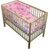 Lenjerie patut Hubners Printesa cu Ursulet 4 piese Roz - Lenjerie pat copii
