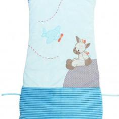 Sac de dormit Zebra Arthur 90-110 cm - Sac de dormit copii Nattou, Albastru