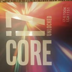 Procesor IntelCore i7-6700K, 4.0GHz, Skylake, 8MB, Socket 1151 - Procesor PC